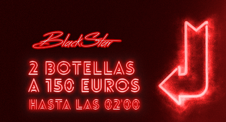 Promo black star club botella